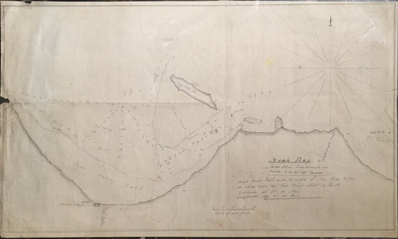 JAMES ALLEN SCARBOROUGH, Neah Bay (Manuscript Chart of Near Bay), c. 1849.