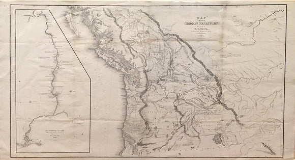 CHARLES WILKES, Map of the Oregon Territory, 1841.