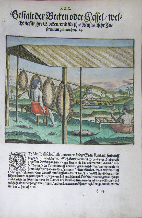 De BRY, Johann Theodor, (1560-1623) and Johann Israel de Bry (1565-1609). Part III, Plate 26, Description of the Farmers Living in the Suburbs Including Other Slaves. From the