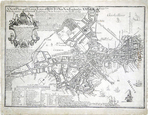 BONNER, John (1643-1726) and PRICE, William (circa 1685-1771). A New Plan of ye Great Town of Boston in New England in America. Boston: William Price, 1769.