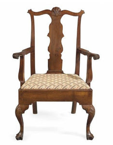A Chippendale Carved Cherrywood Armchair. Philadelphia, 1760-1780.