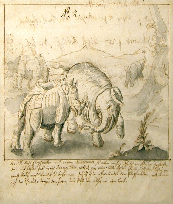 german-school-18th-century-scene-with-elephants-rhinos-and-warring-figures-pen-brown-ink-and-grey-wash-over-black-chalk-1