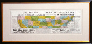 """Go and See Hardy Gillard's Great American Panorama, Illustrating the Pacific Railway from New York to San Francisco"""