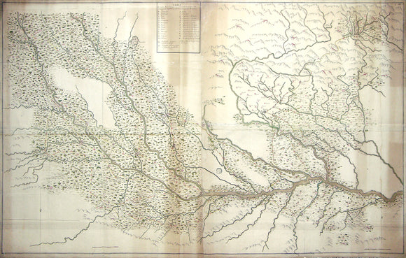 THE MAP THAT MARKS THE END OF FRENCH COLONIAL ASPIRATIONS IN INDIA: THE MOST ACCURATE ORIGINAL MANUSCRIPT MAP OF INDIA FROM THE EIGHTEENTH CENTURY