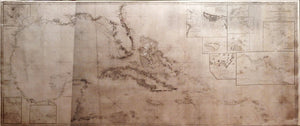BLUNT, Edmund March (1770-1862) and George William BLUNT. Chart of the Gulf of Mexico, West Indies, and Spanish Main. New York: E & G.W. Blunt, 1845 [but 1848].