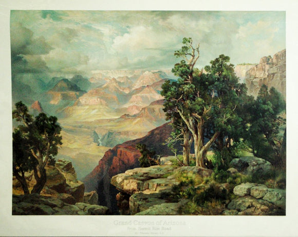 Thomas Moran (1837-1926), The Grand Canyon of Arizona, from Hermit Rim Road