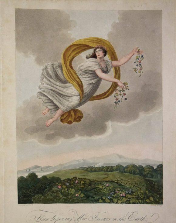 Robert John Thornton (1768-1837)  Robert John Thornton (1768-1837)  Flora Dispensing her Favours  From The Temple of Flora (Quarto Edition)