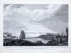 After HOWDELL, Thomas (18th Century) engraved by CANOT, Pierre Charles (1710-1777). A South West View of the City of New York in North America.