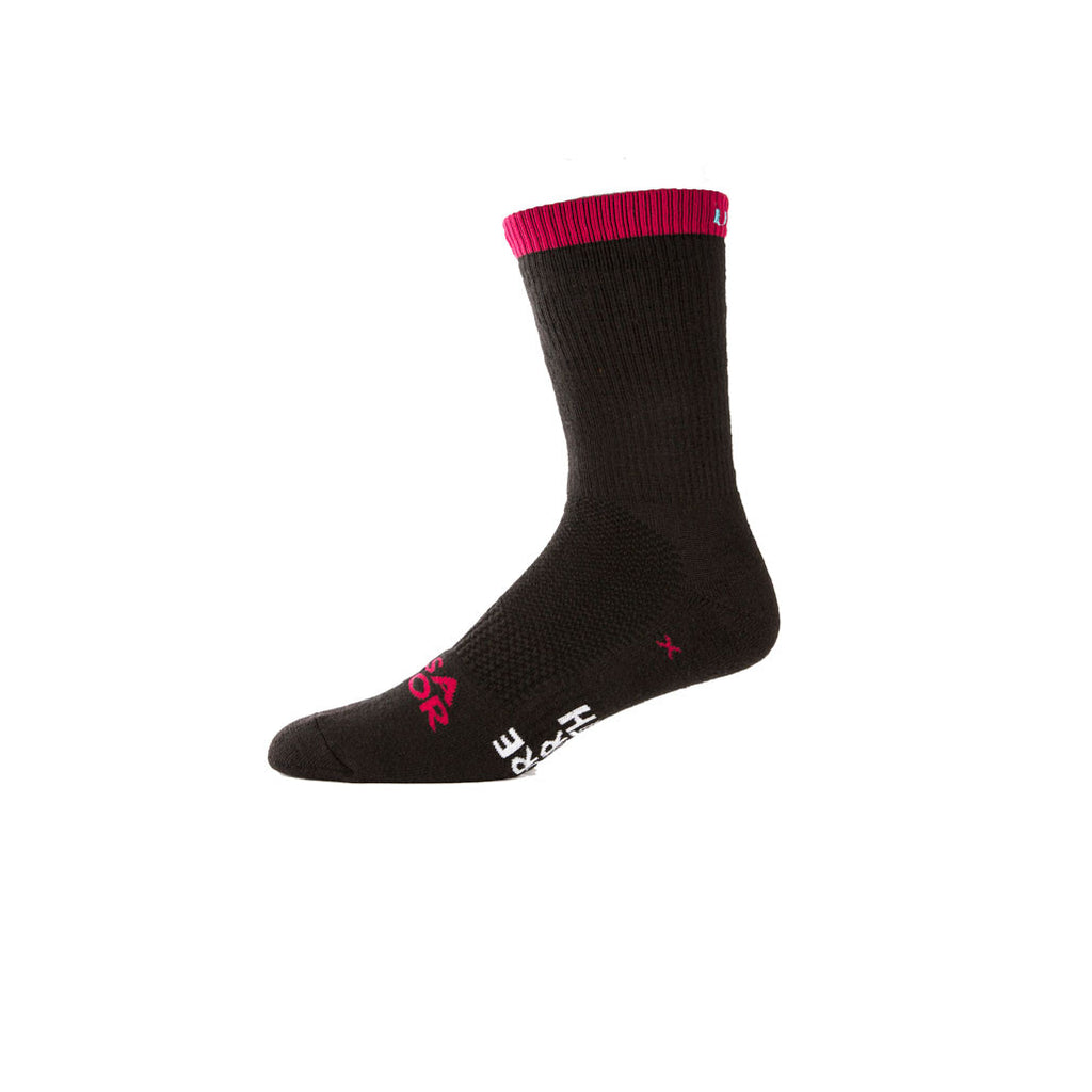 East to West Thermolite Blk/Burgundy/Blue - Cycling Sock