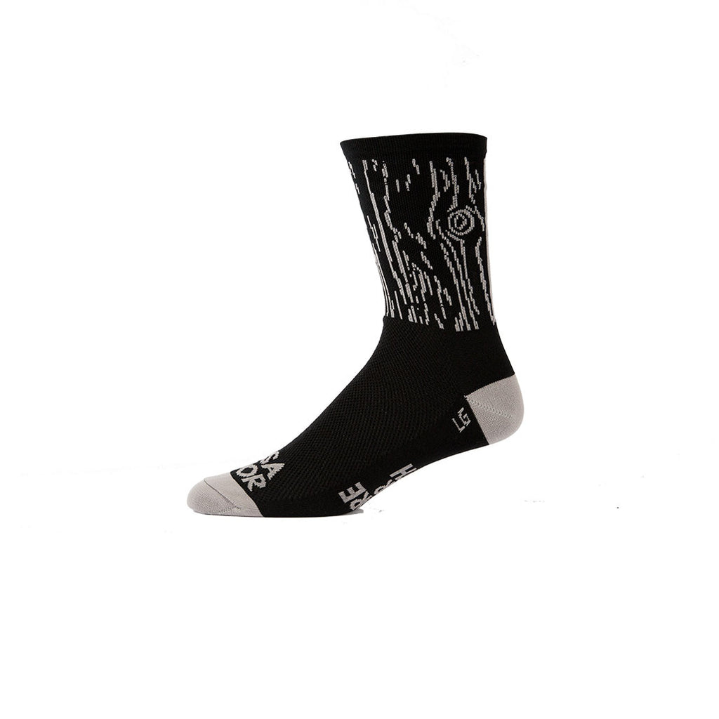 Against The Grain Blk/Gry -Cycling Sock