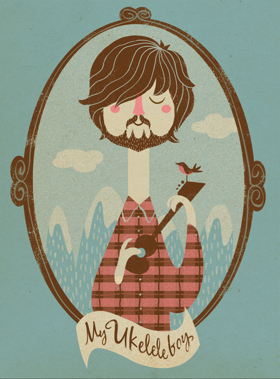 Hipster plaid illustration
