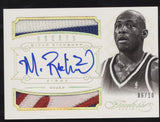 2012-13 Panini Flawless Mitch Richmond Greats 3 Color Dual GU Patch Auto /10