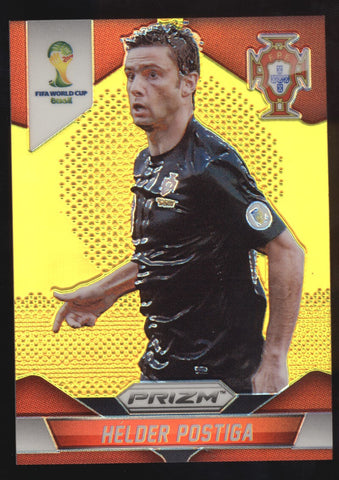 2014 Panini Prizm Helder Postiga World Cup Portugal Gold Refractor /10
