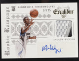 2014-15 Panini Excalibur Andrew Wiggins Rookie Rampage Patch RC Auto /25
