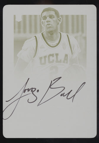 2017-18 Panini Contenders DP Lonzo Ball Yellow Printing Plate RC Auto True 1/1
