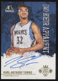 2015-16 Panini Court Kings Karl-Anthony Towns Heir Apparent RC Auto