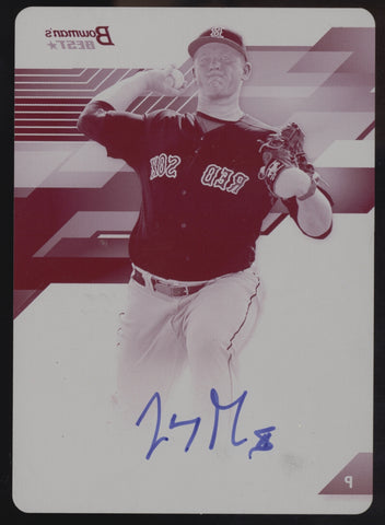2017 Bowman's Best Jason Groome Magenta Printing Plate RC Auto True 1/1