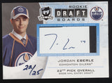 2010-11 UD The Cup Jordan Eberle Rookie Draft Boards RC Auto Autograph /25