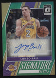 2017-18 Donruss Optic Lonzo Ball Signature Series Green Auto Autograph /5