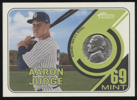 2018 Topps Heritage Aaron Judge Genuine '69 1969 Mint Nickel /15