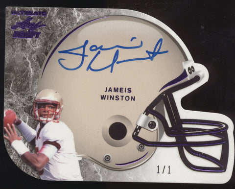2015 Leaf Ultimate Draft Jameis Winston Helmet Die-Cut RC Auto True 1/1
