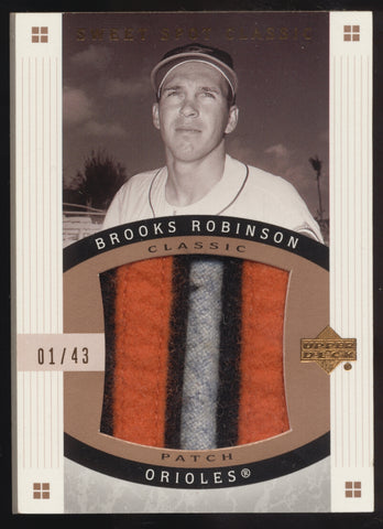 2005 UD Sweet Spot Classic Brooks Robinson Jumbo 3 Color Patch /43 1/1
