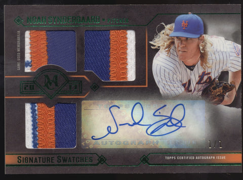 2017 Topps Museum Noah Syndergaard Triple Patch Swatches Auto True 1/1