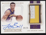 2017-18 National Treasures Lonzo Ball RPA Clutch Factor 3 Color Patch Auto /25