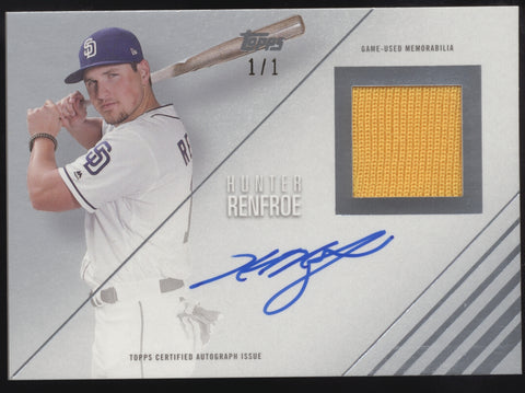 2018 Topps Reverence Hunter Renfroe Jersey Patch Auto Autograph True 1/1