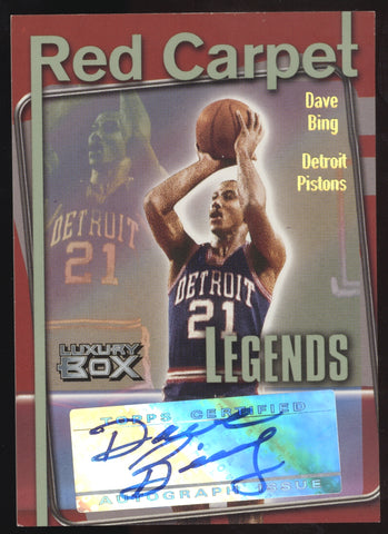 2004-05 Topps Luxury Box Dave Bing Pistons Red Carpet Legends Auto /30
