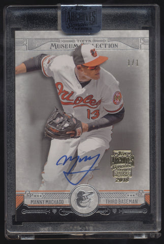 2018 Topps Archives Manny Machado 2015 Museum Collection Auto True 1/1