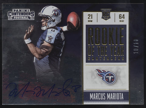 2015 Panini Contenders Marcus Mariota Rookie of the Year RC Auto /10