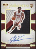 2015-16 Panini Preferred Justise Winslow Silhouettes 3 Color Patch RC Auto /25