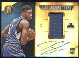 2015-16 Panini Gold Standard Karl-Anthony Towns Jersey Patch RC Auto /199