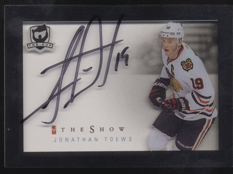 2015-16 UD Upper Deck The Cup Jonathan Toews The Show Acetate Auto