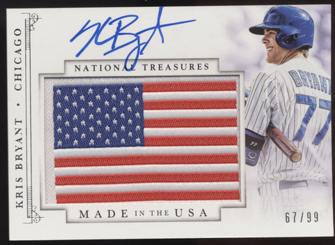 2014 National Treasures Kris Bryant Made in the USA Flag Patch RC Auto /99