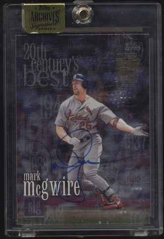 2016 Topps Archives Mark McGwire 2000 20th Century Best Auto True 1/1