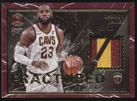 2017-18 Panini Cornerstones Lebron James Fractured 2 Color GU Patch /10