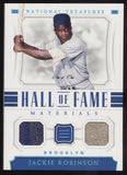 2018 National Treasures Jackie Robinson HOF Dual Jersey Relics True 1/1