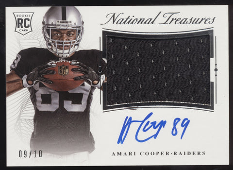 2015 National Treasures Amari Cooper Jumbo Jersey Patch RC Auto /10