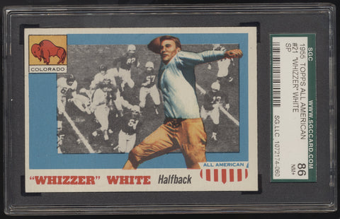 1955 Topps All-American Football #21 Whizzer White SP SGC 86 NM+ 7.5