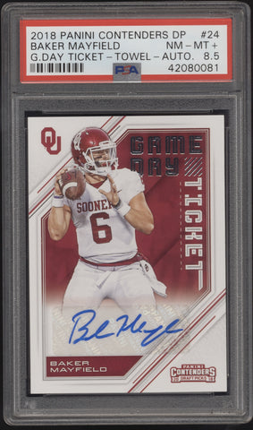 2018 Panini Contenders Baker Mayfield Game Day Ticket RC Auto Autograph SP