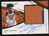 2017-18 Panini Immaculate Josh Jackson 3 Color Premium Patch RC Auto /25