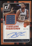 2015-16 Donruss Timeless Treasures Karl-Anthony Towns Jersey RC Auto /75