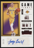 2017-18 Panini Contenders Lonzo Ball Game Ticket Retail RC Auto Autograph /25
