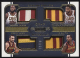 2017-18 Panini Dominion Lebron James Love Thompson Smith Quad Patch /10
