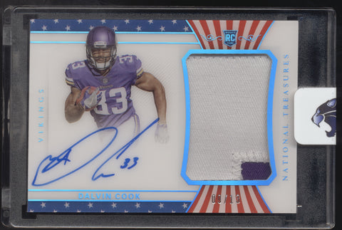 2017 National Treasures Dalvin Cook FOTL Stars & Stripes Patch RC Auto /13
