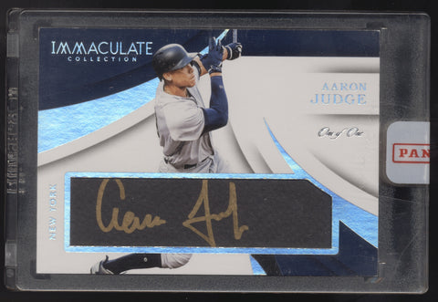 2018 Panini Immaculate Aaron Judge Tweed Weave Auto Autograph True 1/1