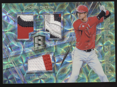 2018 Panini Spectra Shohei Ohtani Green Triple Threat 4 Color Patch RC /25