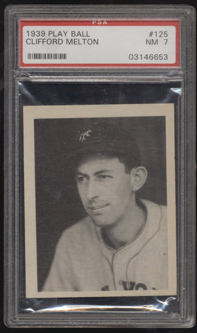 1939 Play Ball #125 Clifford Melton New York Giants PSA 7 Near Mint